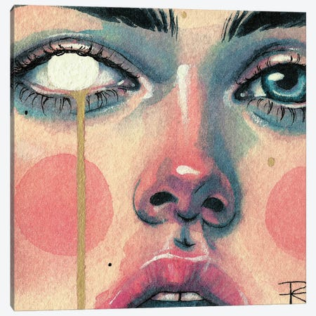 La Fille I Canvas Print #RET1} by Roselin Estephanía Art Print