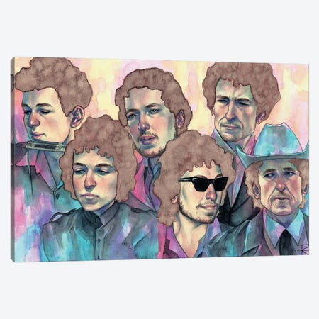 Dylan Through The Decades Canvas Print #RET30} by Roselin Estephanía Canvas Wall Art