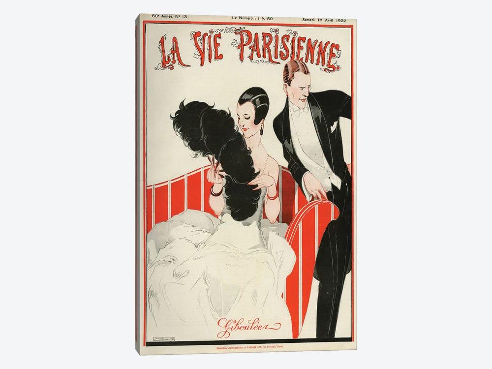 1922 La Vie Parisienne Magazine Cover by Rene Vincent 1-piece Canvas Artwork