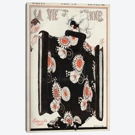 1922 La Vie Parisienne Magazine Cover Canvas Print #REV4} by Rene Vincent Canvas Artwork