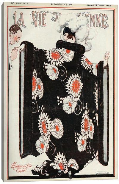 1922 La Vie Parisienne Magazine Cover Canvas Art Print