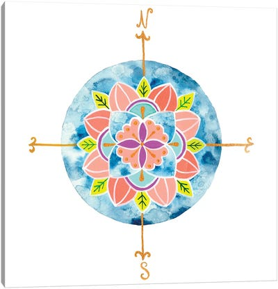 Blue Mandala I Canvas Art Print