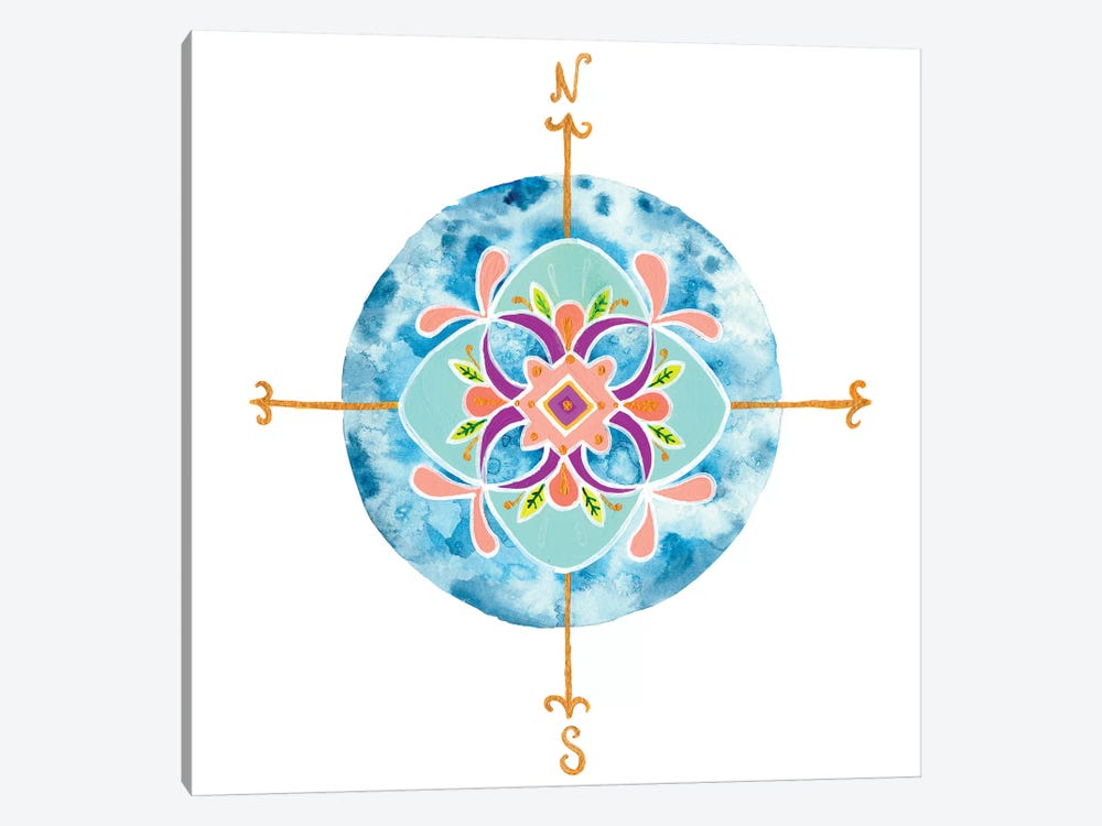 Blue Mandala II by Rebekah Ewer 1-piece Canvas Wall Art