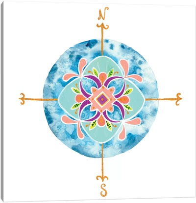 Blue Mandala II Canvas Art Print