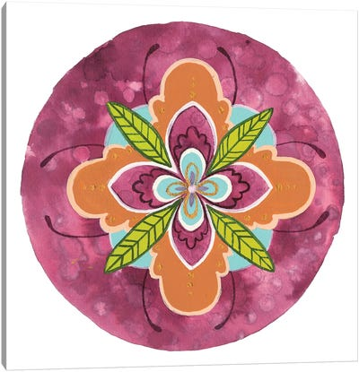 Maroon Mandala I Canvas Art Print