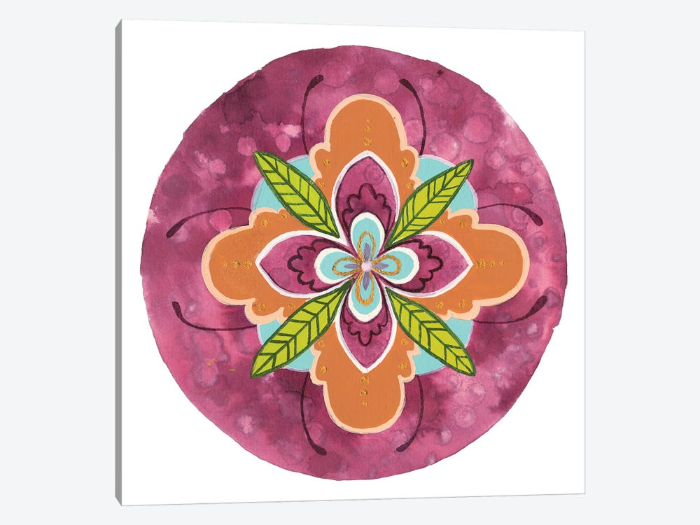Maroon Mandala I by Rebekah Ewer 1-piece Canvas Print