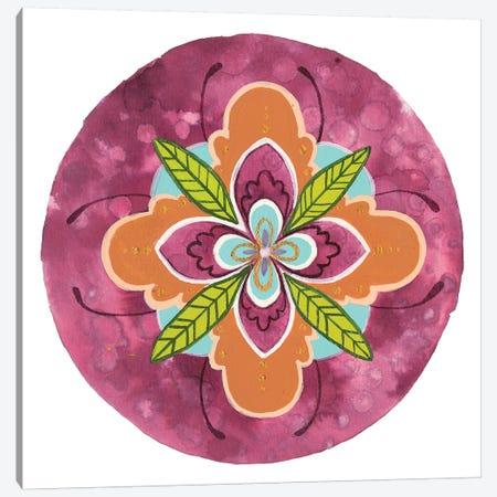 Maroon Mandala I Canvas Print #REW3} by Rebekah Ewer Canvas Wall Art