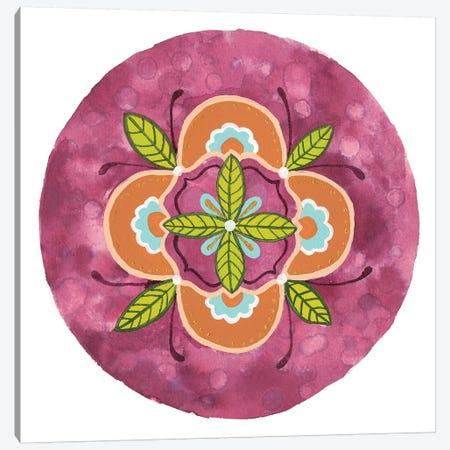 Maroon Mandala II Canvas Print #REW4} by Rebekah Ewer Art Print