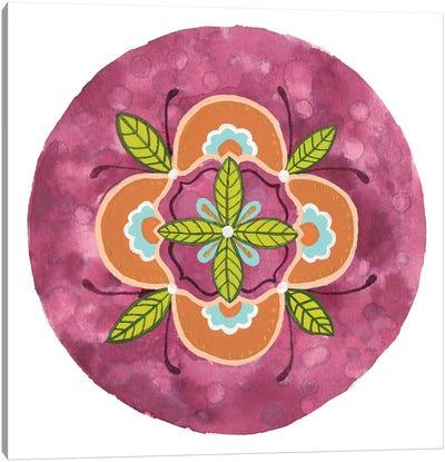 Maroon Mandala II Canvas Art Print