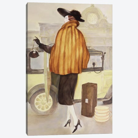 Vintage Lady IV Canvas Print #REY10} by Graham Reynolds Canvas Art Print