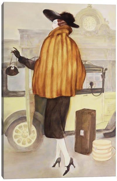 Vintage Lady IV Canvas Art Print