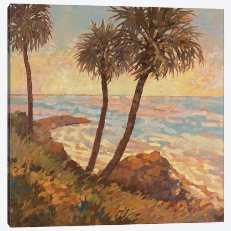 Palm Breeze I Canvas Print #REY11} by Graham Reynolds Canvas Art Print