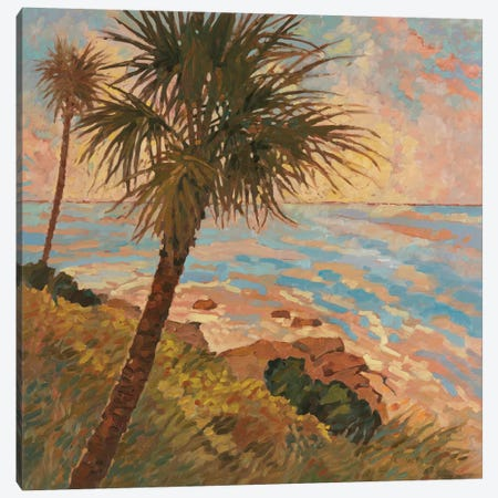 Palm Breeze II Canvas Print #REY12} by Graham Reynolds Canvas Print