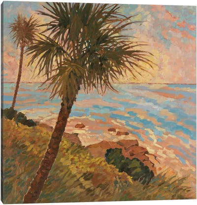 Palm Breeze II Canvas Art Print