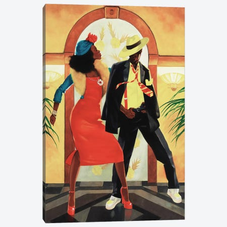 Night Out I Canvas Print #REY3} by Graham Reynolds Canvas Wall Art