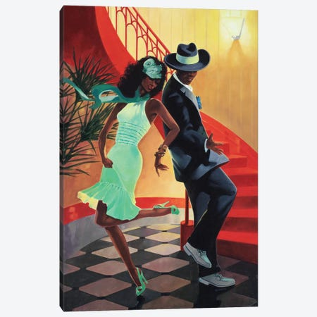 Night Out IV Canvas Print #REY6} by Graham Reynolds Canvas Print