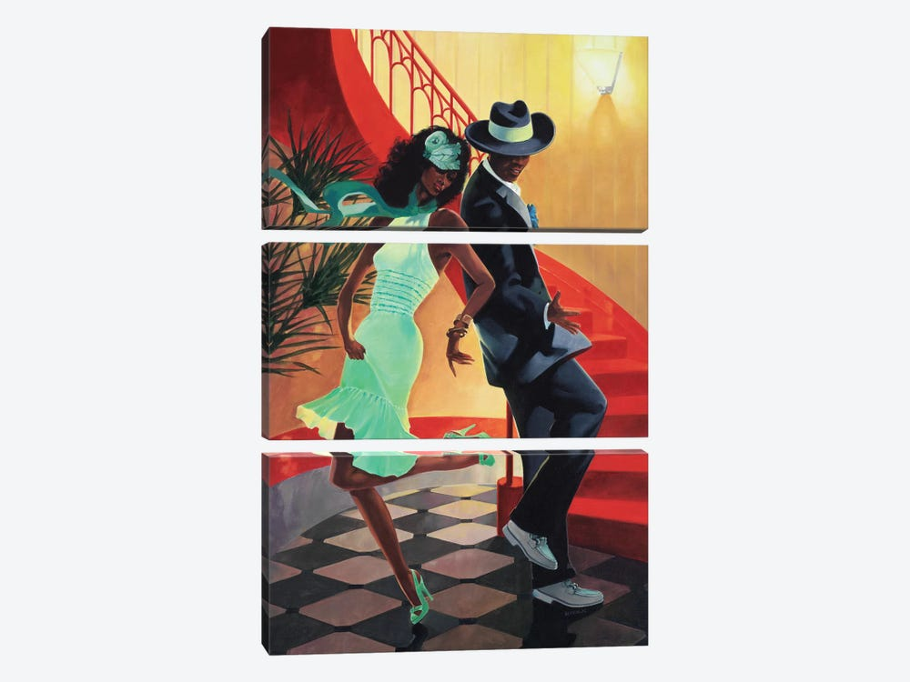 Night Out IV by Graham Reynolds 3-piece Canvas Wall Art