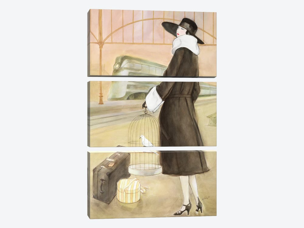 Vintage Lady II by Graham Reynolds 3-piece Canvas Artwork