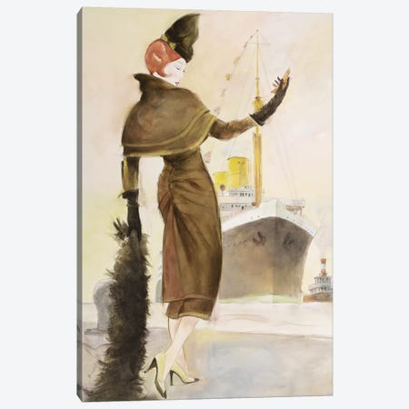 Vintage Lady III Canvas Print #REY9} by Graham Reynolds Canvas Art