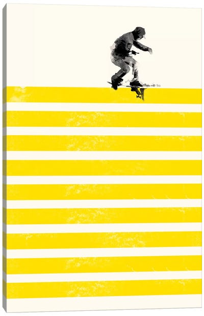 Slide In Stripes Canvas Art Print
