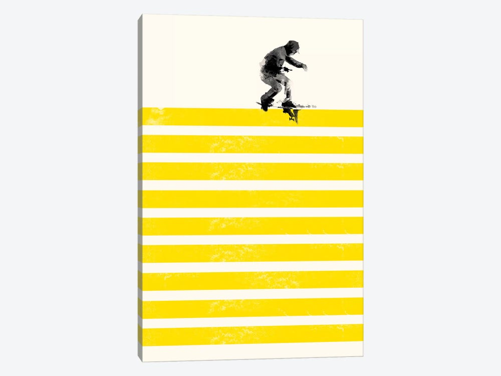 Slide In Stripes by Robert Farkas 1-piece Canvas Art Print