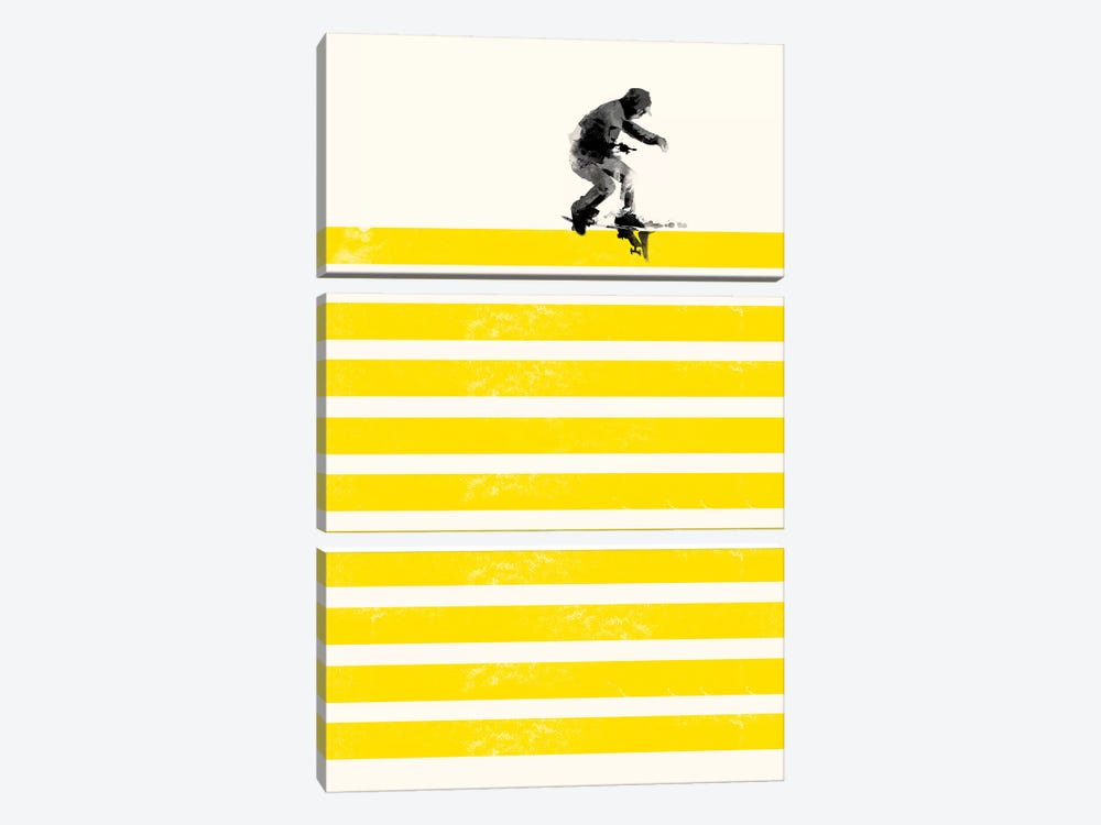 Slide In Stripes by Robert Farkas 3-piece Art Print