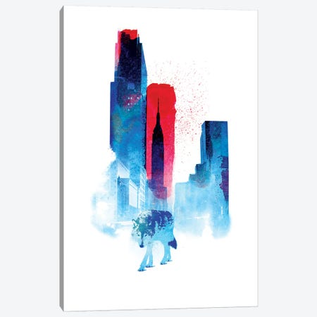 The Wolf Of The City Canvas Print #RFA11} by Robert Farkas Canvas Art Print