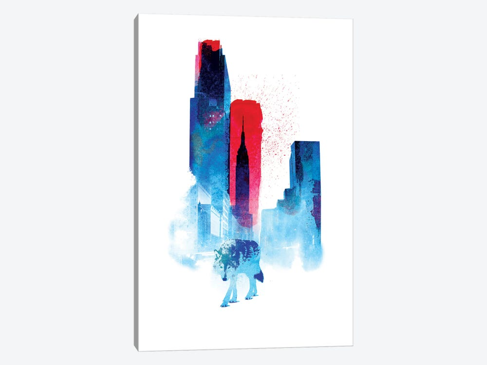 The Wolf Of The City by Robert Farkas 1-piece Canvas Artwork