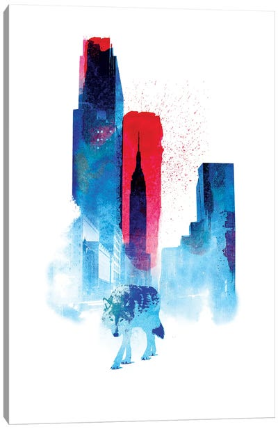 The Wolf Of The City Canvas Art Print
