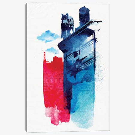 This Is My Town Canvas Print #RFA12} by Robert Farkas Canvas Print