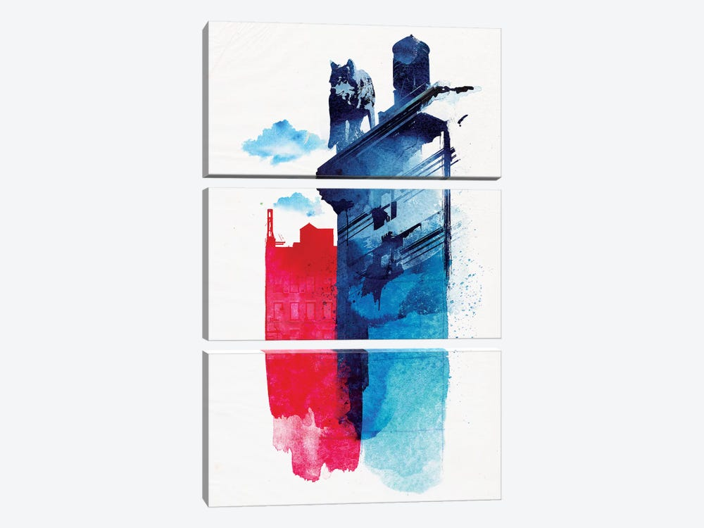 This Is My Town by Robert Farkas 3-piece Art Print