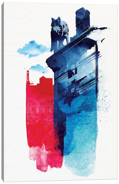 This Is My Town Canvas Art Print