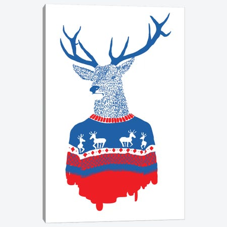 Ugly Winter Pullover Canvas Print #RFA14} by Robert Farkas Canvas Wall Art