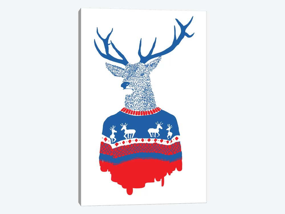 Ugly Winter Pullover by Robert Farkas 1-piece Canvas Print