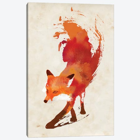 Vulpes Vulpes Canvas Print #RFA15} by Robert Farkas Canvas Wall Art