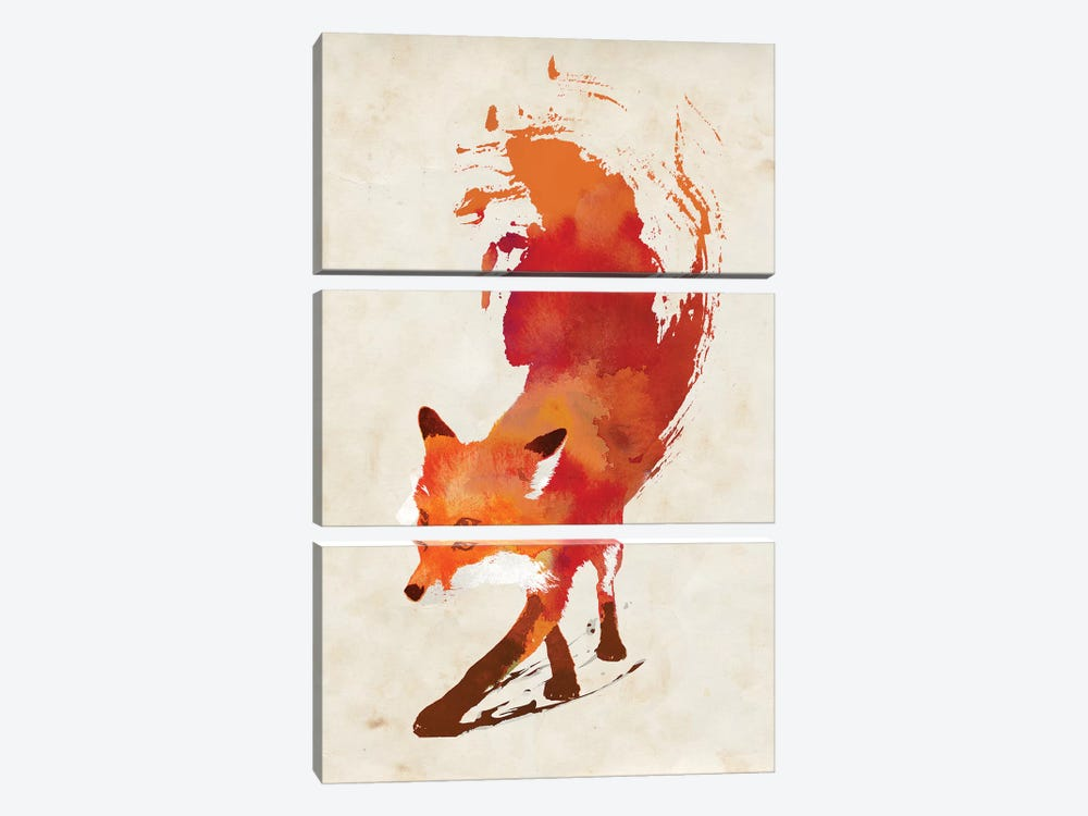 Vulpes Vulpes by Robert Farkas 3-piece Canvas Wall Art
