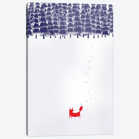 Alone In The Forest Canvas Print #RFA17} by Robert Farkas Canvas Wall Art