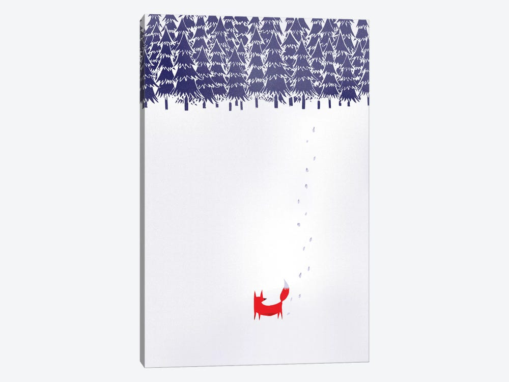 Alone In The Forest 1-piece Canvas Artwork