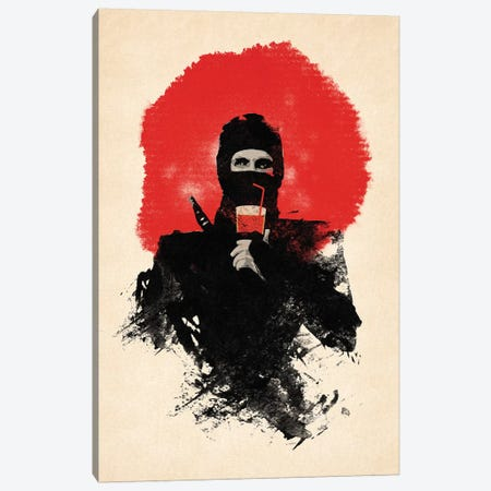 American Ninja Canvas Print #RFA18} by Robert Farkas Canvas Art Print