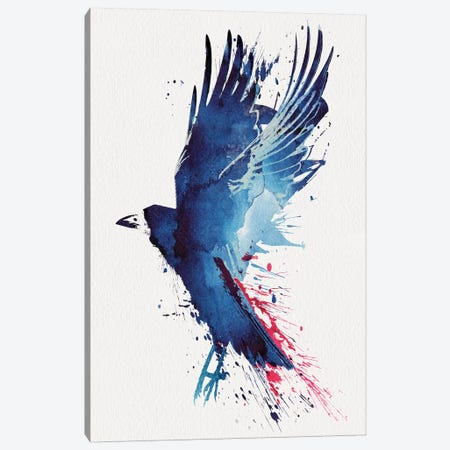 Bloody Crow Canvas Print #RFA1} by Robert Farkas Canvas Artwork