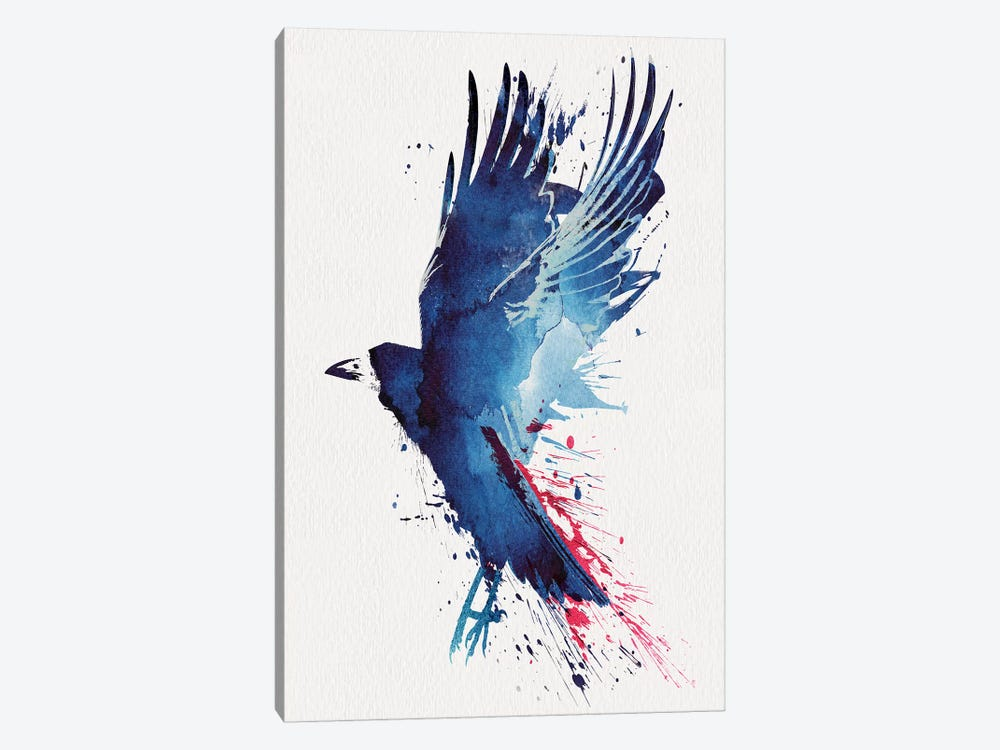 Bloody Crow by Robert Farkas 1-piece Canvas Art Print