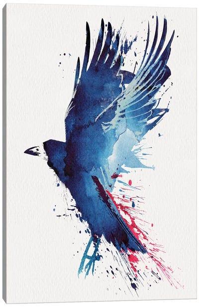 Bloody Crow Canvas Art Print