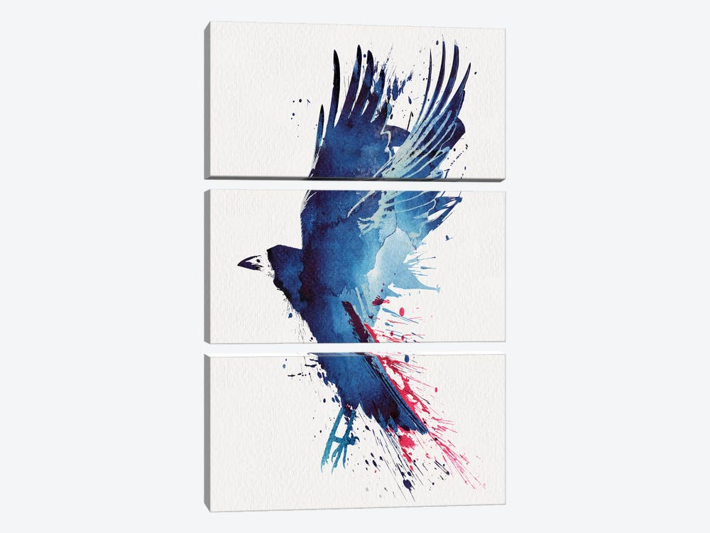 Bloody Crow by Robert Farkas 3-piece Art Print