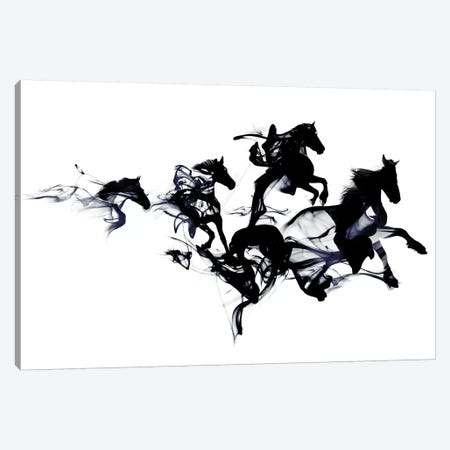 Black Horses Canvas Print #RFA22} by Robert Farkas Canvas Art