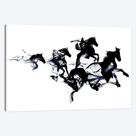 Black Horses Canvas Print #RFA22} by Robert Farkas Canvas Art