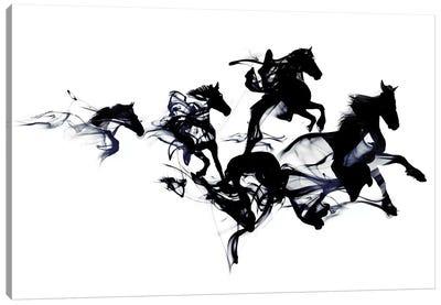 Black Horses Canvas Art Print