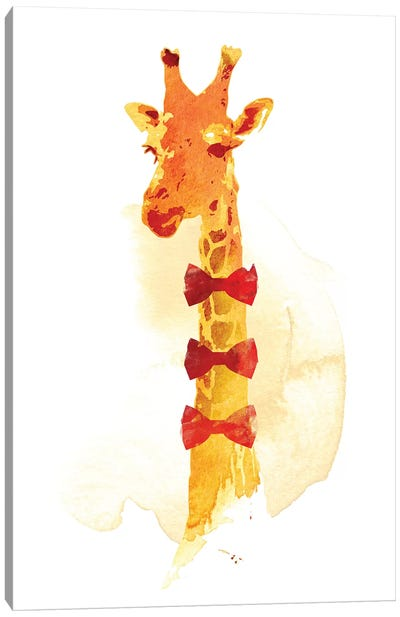 Elegant Giraffe Canvas Art Print