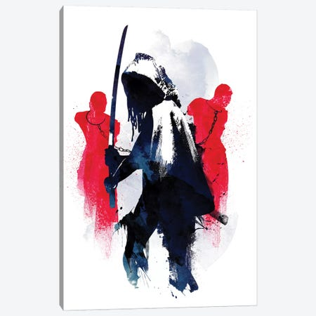 Michonne Canvas Print #RFA33} by Robert Farkas Canvas Art Print