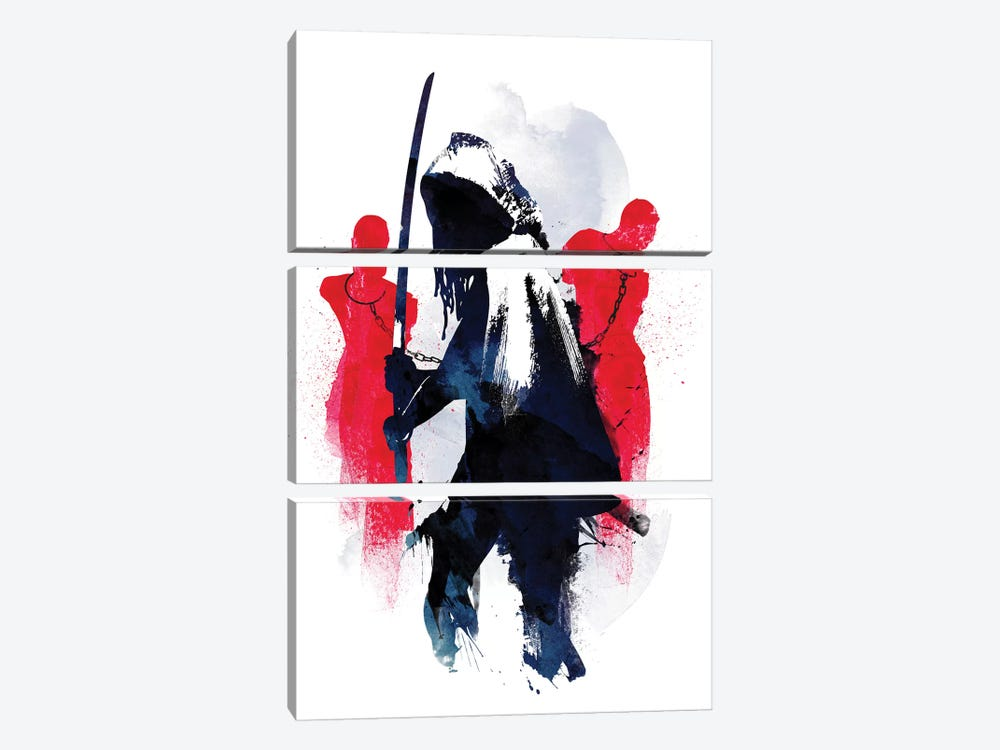Michonne by Robert Farkas 3-piece Canvas Wall Art
