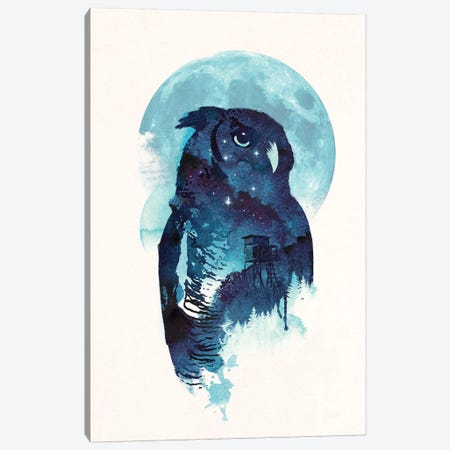 Midnight Owl Canvas Print #RFA34} by Robert Farkas Canvas Art